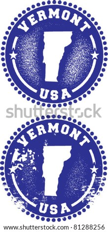 Vermont USA Stamps