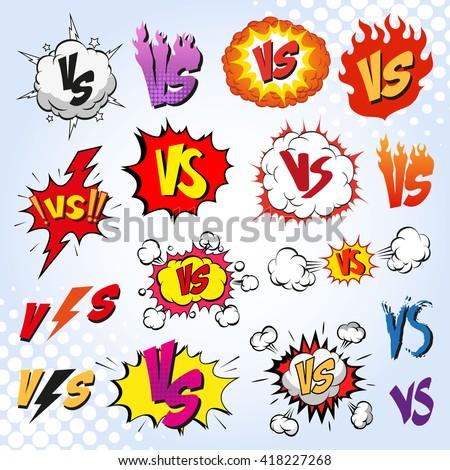versus letters fight