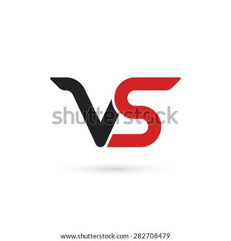 Versus letters logo. Letters V and S, flat style symbol. Isolated on white background. Vector illustration, eps 10. Stock fotó ©