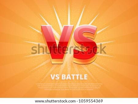 versus logo vs letters for