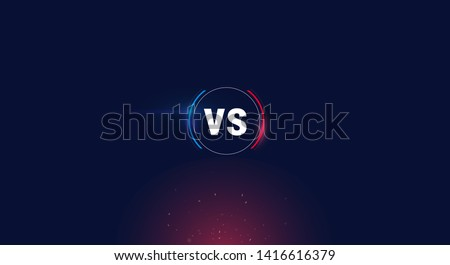 versus logo vs letters for sports and fight competition. Battle vs match, game concept competitive vs.eps 10 Vector illustration eps 10