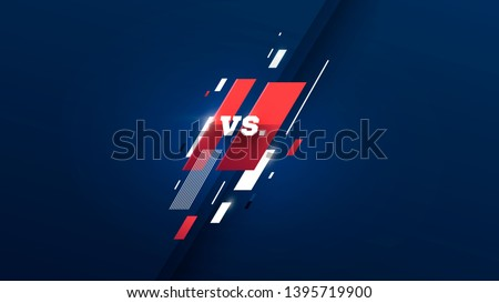 versus logo vs letters for sports and fight competition. MMA, UFS, Battle, vs match, game concept competitive vs. with simple graphic elements. blue. dark background eps 10 Vector illustration