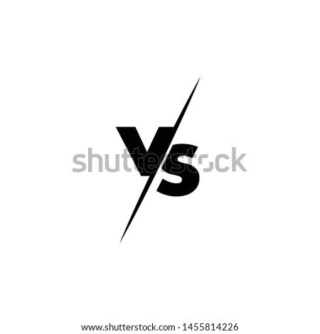 Versus Or VS Letters Logo Design Inspiration Stock photo ©