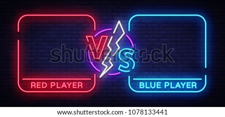 versus screen design in neon