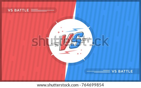 versus screen design red and