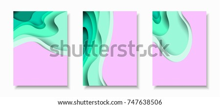 vertical a4 banners with 3d