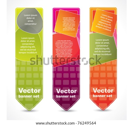 Vertical abstract banners with place for your promotional text - stock vector
