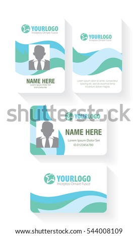 Vertical and Horizontal Identification id cards set Vector illustration #544008109