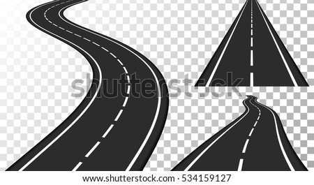 Vertical asphalt roads, vector eps10 illustration