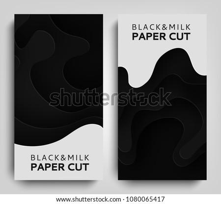 vertical banner paper art