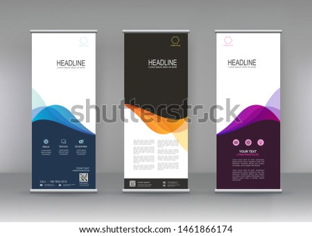 Vertical banner stand template design. Fluid gradient geometric for minimal banners, brochure, flyer, covers ,infographics ,vector abstract geometric background, Abstract trendy liquid background.
