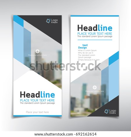 Vertical banner vector background template  - can be used for brochures, flyers, roll up ads and more