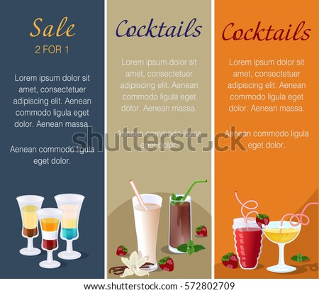 vertical banners for cafes and