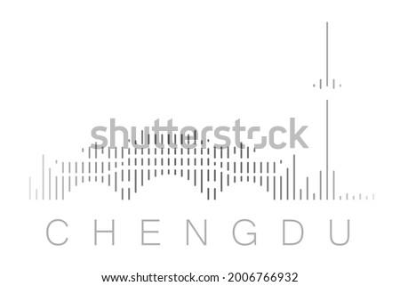 vertical bars chengdu landmark