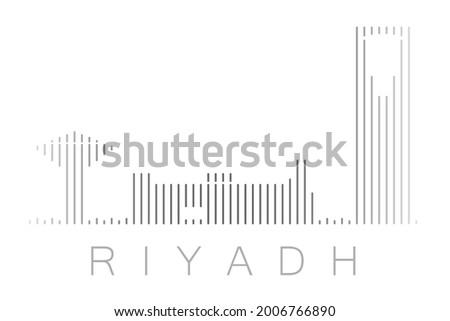 vertical bars riyadh landmark
