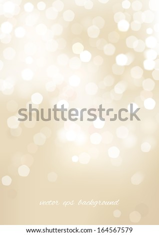 Vertical beige blurred background with graphic elements. Vector version.