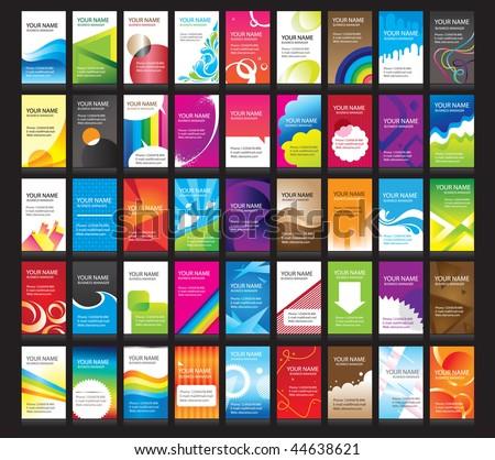 vertical business cards. 45  set