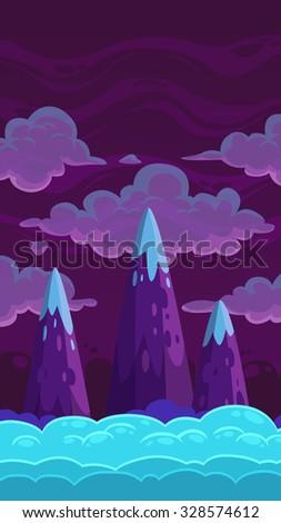 vertical cartoon night