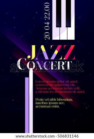 Royalty Free Jazz Music Festival Poster Background