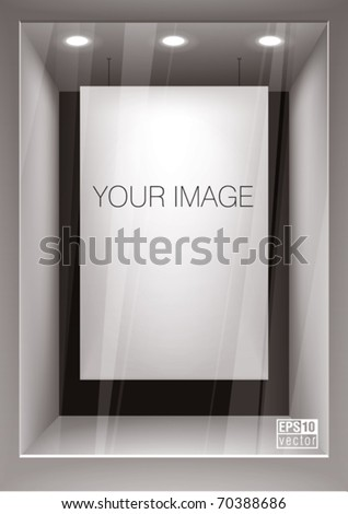 Vertical empty storefront. You can change colors for the background, eps10 vector
