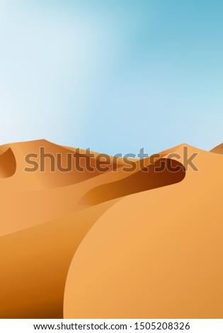vertical endless dry desert