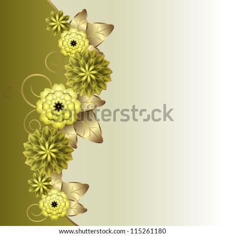 Vertical floral vignette