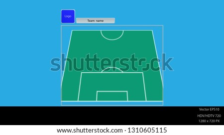 vertical football field with