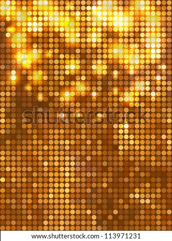 vertical gold mosaic