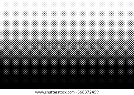 Vertical gradient halftone dots background. Pop art template, texture. Vector illustration Foto stock ©