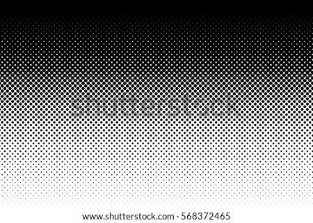 Vertical gradient halftone dots background. Pop art template, texture. Vector illustration