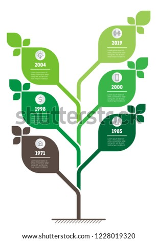 vertical green infographics or