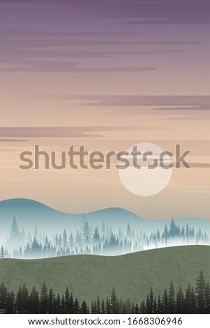 vertical mountain landscape