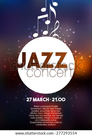 vertical music jazz poster with