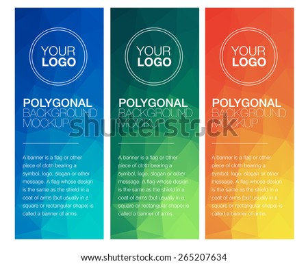 stock-vector-vertical-polygonal-banners