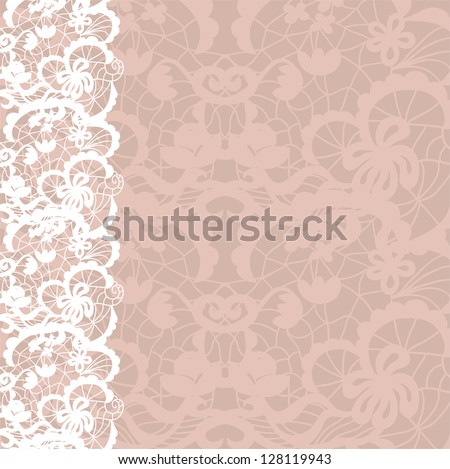 Vertical seamless background with a floral ornament