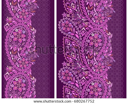 vertical seamless lace pattern