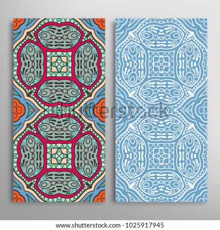 vertical seamless patterns set