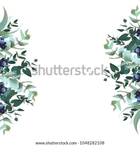 vertical sides botanical vector