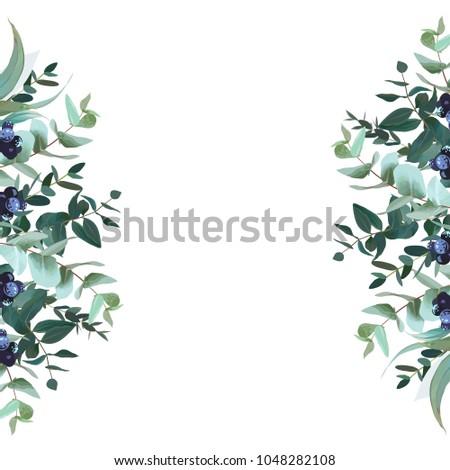 vertical sides botanical vector