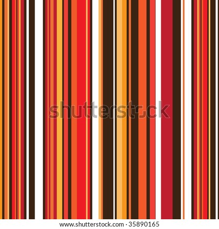 vertical striped abstract background with autumn colours with seamless design - stock vector