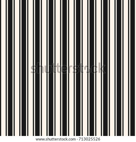 Vertical stripes seamless pattern. Simple vector lines texture. Modern abstract geometric striped background. Repeat monochrome design element for prints, decor, wrap, card, textile, furniture, fabric