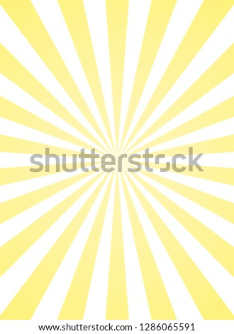 Vertical sunlight  background. yellow color burst background. Vector illustration. Sun beam ray sunburst pattern background. Retro bright backdrop. vintage placard or poster. Sunny banner