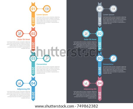 Vertical timeline infographics template, workflow, process diagram, vector eps10 illustration