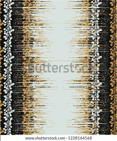 Vertical  vector animal skin  design. Seamless  pattern in tribal style. Traditional ethnic folk leafs motif. Aztec ikat  background. Abstract geometric art print. hand drawn. Textile design, fabric