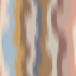 Vertical wavy stripe ikat design in natural terra cotta desert colors.  Gradient, ombre, blurry, soft.  Earth camouflage inspired.  Great for home decor, fashion, stationary. Generative Art.