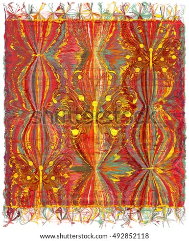 vertical weave tapestry with