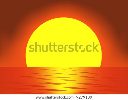 very big sun vector - stock vector