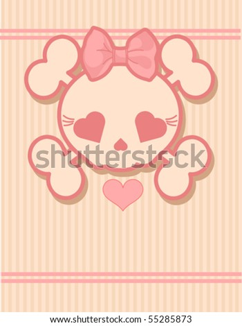 very cute skull place card with
