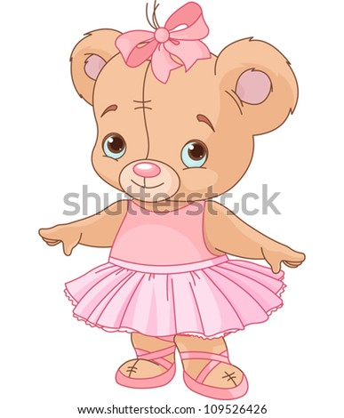Very cute Teddy Bear Ballerina
