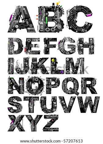 very detailed alphabet